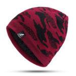 New Men Women Vintage Camouflage Earmuffs Knit Plush Beanie Hat