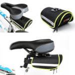 New BIKIGHT 600D+PE Waterproof Bicycle Mountain Bike Saddlebags Pouch Reflective Seat Rear Storage Bag