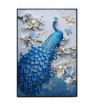 New 5D Peacock Diamond Paintings Embroidery Cross Stitch Home Craft Decor 23.6″x15.7″
