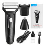 New 3 In 1 Reciprocating Electric Shaver Electric Razor Shaver Rotary Shaver Portable Face Shaver Rechargeable Beard Trimmer USB Cordless Nose Trimmer