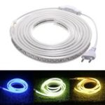 New AC220V 3M Waterproof SMD5730 5630 Flexible LED Strip Tape Rope Light EU Plug for Home Decoration