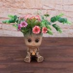 New Desktop Flower Pot Crafts Figurine Hero Model Guardians Of The Galaxy Home Decor Mimi Planter Pen Pot