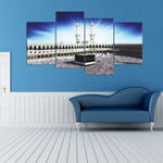 New 4 PCS Wall Art Print Mecca Islamic Kaaba Hajj Canvas Paintings Decor