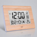 New LCD Digital Wall Clock Alarm Big Size Multifunction Temperature Table Clocks Bedside Thermometer Hygrometer