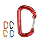 New XINDA 1 PC Carabiner Rock Buckle Safety Climbing Lock Outdoor Camping Security Swing Buckle