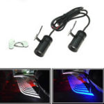 New Pair LED Warning Signal Universal Angel Wings Car Motorcycle Welcome Shadow Decoration Light Lamp