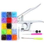 New 600Pcs DIY Clothes T5 Plastic Fasteners Snap Resin Press Stud Cloth Tool Kit
