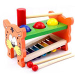 New 2 In 1 Wooden Tap Xylophone Education Musical Instruments for Children