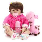 "New  NPK Doll 22"" Reborn Silicone Handmade Lifelike Realistic Newborn Baby Toy For Girls Birthday"