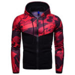 New Mens Camouflage Hooded Drawstring Casual Sweatshirt