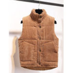 New Women Corduroy Thick Warm Sleeveless Vest
