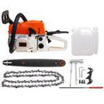 New 20 Inch 58cc Gasoline Chainsaw Garden Instrument Woodworking Chain Saw Refit Kit