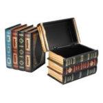 New Vintage Book Shape Hidden Secret Storage Box Book Shelf Holder Home Room Decorations
