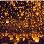 New 5PCS Love Heart KongMing Sky Lanterns Chinese Kite Traditional Wishing Lamp Yellow