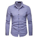 New Mens Striped Design Casual Shirts