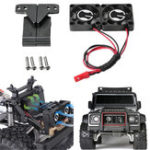 New 1 Set Radiator Cooling Twin Fan for 1/10 Traxxas TRX-4 TRX4 Defender RC Car Parts