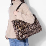 New Women Fashion Leisure Brief Plush Tote Bag