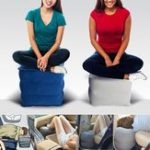 New Inflatable Footrest Air Pillow Cushion Outdoor Hiking Travel Car Leg Up Foot Rest