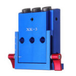 New XK-3 Pocket Hole Jig Kit 3 Holes Woodworking Drill Guide Aluminium Oblique Drill Guide Locator Tools