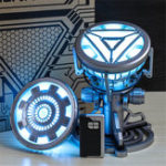 New 1:1 ARC REACTOR LED Chest Heart Light-up Lamp Movie ABC Props Model Kit Science Toy