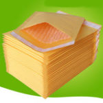 New 50Pcs Kraft Paper Bubble Mailers Padded Envelopes Self Seal Shipping Bags Lot Yellow