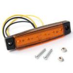 New LED Side Marker Indicator Lights Lorry Sidelamp 9.6cm 5-Color 10Pcs for Jeep Car Truck SUV