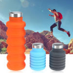 New Portable Silicone Water Bottle Retractable Folding Coffee Bottle Outdoor Travel Drinking Collapsible Sport Drink Kettle