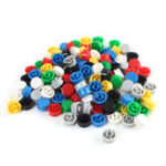 New 140pcs Round Mixed Color Tactile Button Cap Kit For 12x12x7.3mm Tact Switches