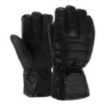 New Leather Rechargeable Battery Electric Heated Gloves Hands Winter Warmer Outdoor Motorcycle