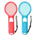 New 2Pcs DOBE TNS-1843 Tennis Racket Racquet Game Controller Gamepad for Nintendo Switch Joy-Con Game Console