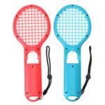 New 2Pcs DOBE TNS-1843 Tennis Racket Racquet Game Controller Gamepad for Nintendo Switch Joy-Con Game Console