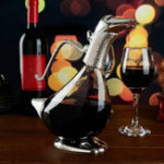 New 750ml Crystal Decanter Duck Style Glass Water Pourer Carafe Table Decoration Table Aerator Carafe