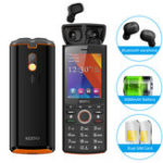 New SERVO R25 2.8 inch Mobile Phone Dual SIM Card with Bluetooth 5.0 TWS Wireless Earphones 6000mAh Power Bank GSM WCDMA GPRS Feature Phone