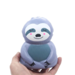 New Sloth Squishy Grey 12.5*9.5cm Slow Rising Rebound Toys With Packaging