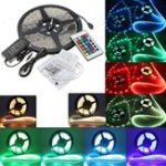 New DC12V 5M 5050 RGB Waterproof 300 LED Strip Light Kit + 24 Key IR Controller + 5A US Power Supply
