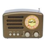 New Portable AM FM AUX Vintage Retro Radio SW Bluetooth Speaker TF Card USB MP3 Music Player