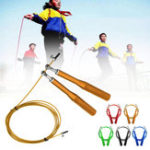 New 2.8m Skipping Fitness Exercise Rope Jumping Steel Cable Speed Rope