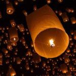 New 5PCS Blue Love Heart Kong Ming Sky Lanterns Chinese Kite Traditional Wishing Lamp