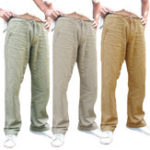 New Mens Ethnic Style Cotton Comfy Breathable Straight Leg Pants