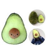 New 8″/10″Cute Avocado Fruits Pattern Stuffed Plush Throw Pillow Toy Soft Back Cushion Gift Decoration