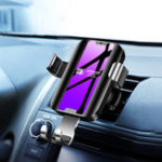 New Joyroom Glass Surface Qi Wireless Fast Charge Gravity Auto Lock Car Holder for iPhone Mobile Phone