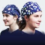 New Unisex Adjustable Strap Animal Print Surgical Cap