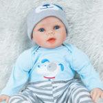 New Obeier 55cm Realistic Handmade Doll Girl Newborn Lifelike Vinyl Alive Reborn Doll Toys