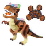 New Kids RC Animated Remote Control Action Dinosaur Dancing Toys Gift Figure