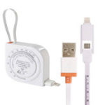 New AUGIENB 2-in-1 Creative Micro USB Charging Data Cable Expansion Tape Measure BMI For IOS Android