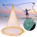 New 4.5m Fishing Net Throwing Net Nylon Line Fishing Network With Galvanized Sinker