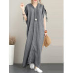 New Women Backless Solid Casual Maxi Dress