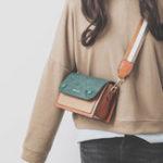 New Women Stylish Faux Leather Crossbody Bag Patchwork Bag