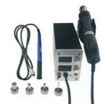 New KSGER STM32 OLED T12 Temperature 2 in 1 Hot Air Dryer Digital Rework Soldering Station Solder Iron 9501 Handle