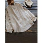 New Vintage Cotton Button Blouse